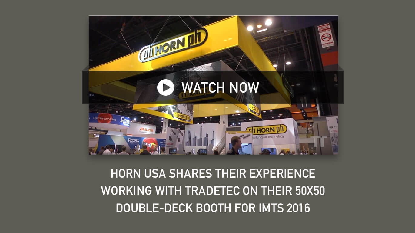 TradteTec and Horn Create Double Decker Booth
